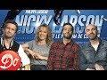 Interview de Philippe Lacheau, Elodie Fontan, Tarek Boudali et Julien Arruti pour Nicky Larson