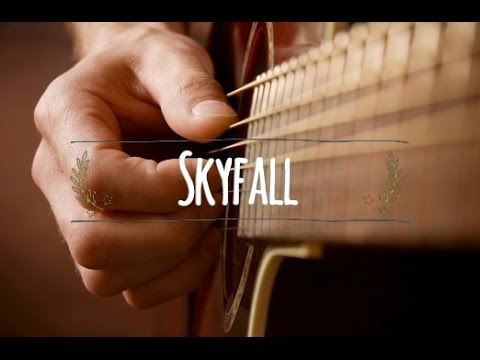 Adele Skyfall Acoustic Classical Guitar Cover Tabs Youtube