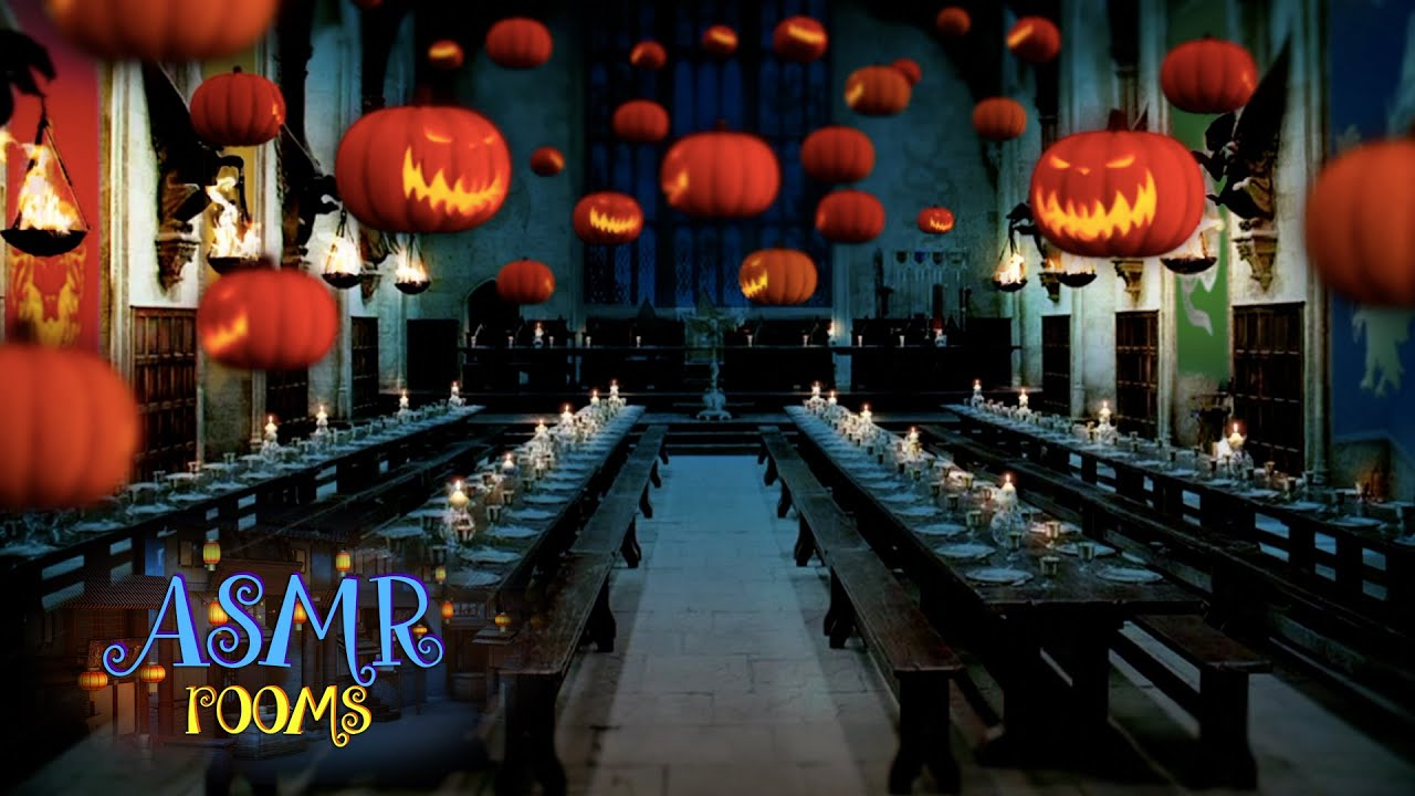 harry potter asmr - halloween at the great hall - hd ambient sound
