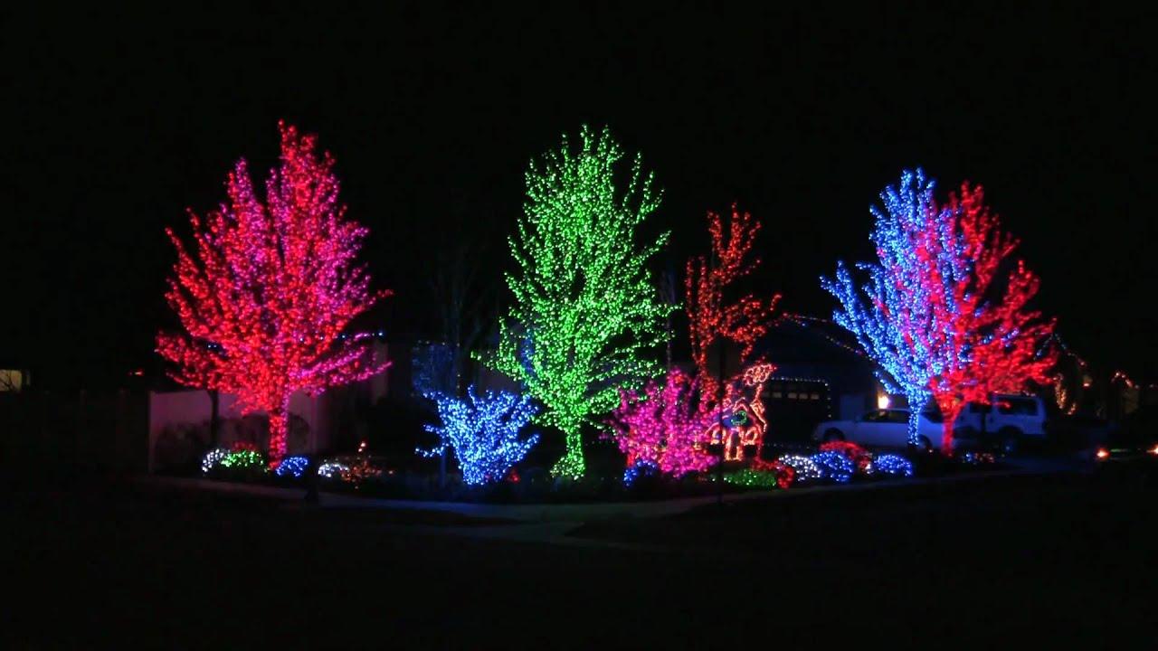 South Jordan Utah House With Crazy Christmas Lights