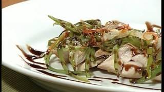Pechugas De Pollo Con Verduras / Chicken Breast With Vegetables And Balsamic Vinager Cream