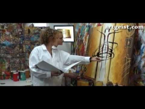 Tableau peinture id e de d coration murale youtube for Peinture decorative murale