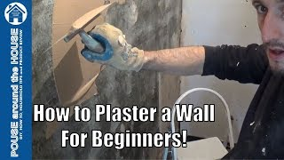 How to plaster a wall, a beginners guide. Plastering made easy for the DIY enthusiast.