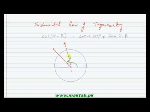 FSc Math Book1, Ch 10, LEC 1: Fundamental law of trigonometry part 1