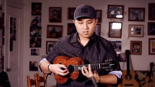 "Kris Fuchigami ""Sunday Morning"" Ukulele/Piano Instrumental Live- Kamaka Roland"