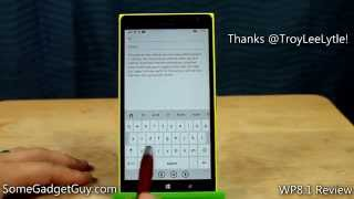 Windows Phone 8.1 Keyboard Tips & Tricks: Slide for Characters, Cursor, and Punctuation