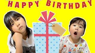 かのんちゃんが誕生日プレゼントを開封するよ! サプライズ バービー人形 お人形遊び おもちゃ 開封 おままごと 姉妹