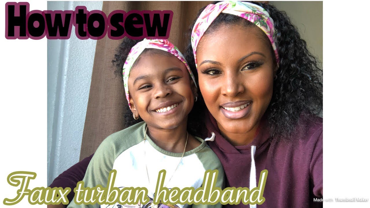 How to sew faux turban headband - YouTube 2a9970db89e