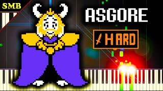 UNDERTALE - ASGORE - Piano Tutorial
