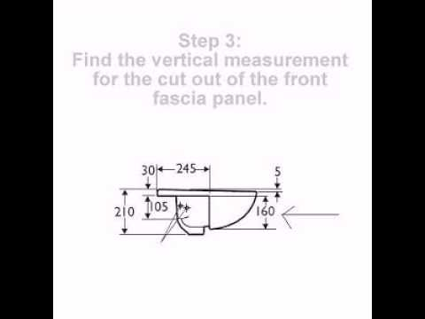 How to fit the semi recessed basin correctly