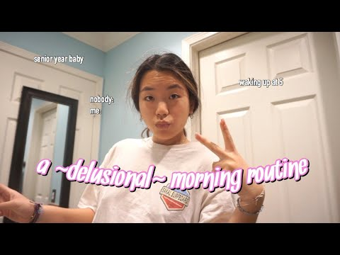 a ~delusional~ high school morning routine