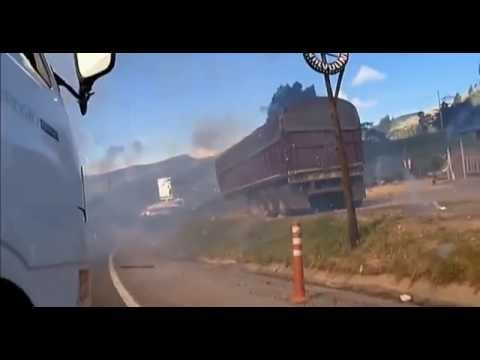 Colombia fireworks explosion- Near Death caught on Camera