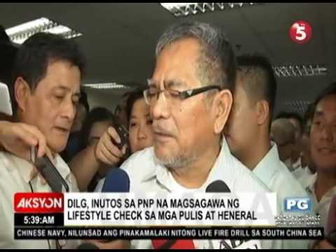 DILG, inutos sa PNP na magsagawa ng lifestyle check sa mga pulis, heneral - HD