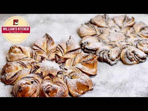 recette-de-noël-:-brioche-façon-flocon-de-neige-|-2-façons-|-william's-kitchen