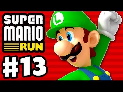 Super Mario Run - Gameplay Walkthrough Part 13 - World 1 All Black Coins! Luigi Gameplay! (iOS)