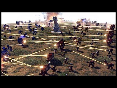 BLOOD RAVENS VS ULTRAMARINES! Warhammer 40k Mod