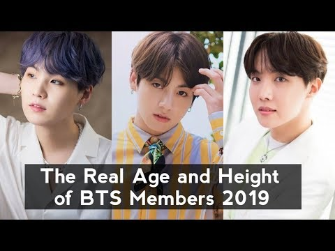 The Real Age and Height of Kpop BTS Members 2019 - YouTube
