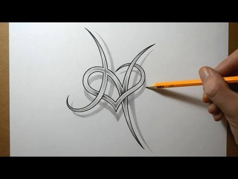 Designing A Letter H With A Heart Combined