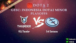 [RU] VGJ.Thunder vs Evil Geniuses | Bo3 | GESC: Indonesia Dota2 Minor by @Tekcac