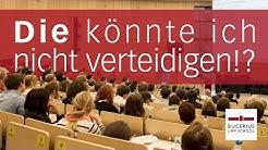 """""""Die könnte ich nicht verteidigen!?"""" Strafrechtlicher Gastvortrag Wolfgang Heer und Anja Sturm"""