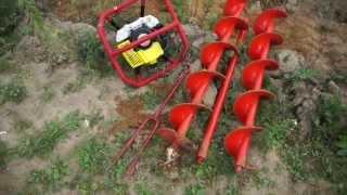 Мотобур Iron Mole E73 Tandem(Профессиональный мотобур с универсальной рукояткой для двух или одного оператора. На видео бурение тяжело..., 2015-09-18T09:43:11.000Z)