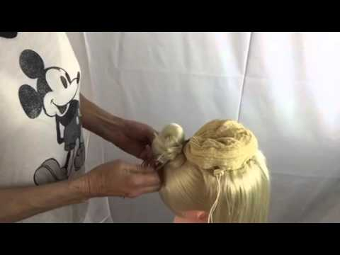 Cheerleader high pony Sabrina Easy hairpiece attachment tutorial.