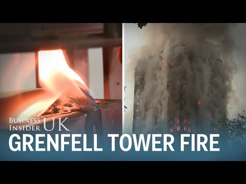 Lab test on cladding similar to the Grenfell Tower panels set alight in just 2 minutes