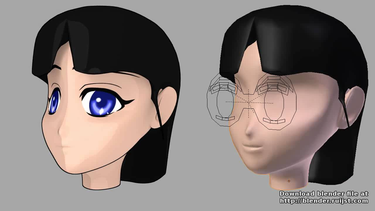 Blenderella Character Modeling In Blender 2 5 Download : Textured eyes controled with drivers blender d youtube