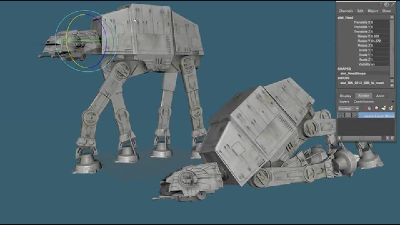 game ready star wars at at imperial walker 3d model youtube. Black Bedroom Furniture Sets. Home Design Ideas