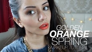 Golden + Orange Spring Makeup Tutorial | Kaushal Beauty Thumbnail