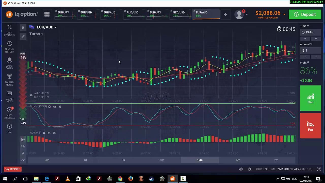 iq binary option trading strategies