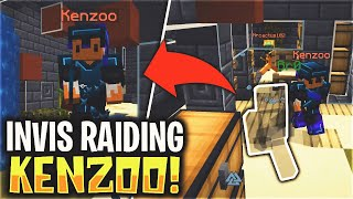 INVIS RAIDING KENZOO... (INSANE) | Minecraft HCF