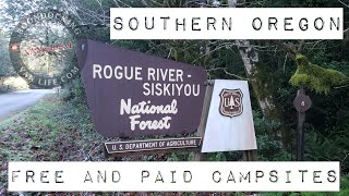 Free Camping and Pąid Camping Sites in Southern Oregon