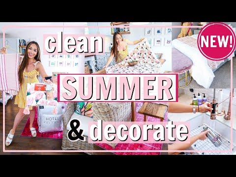 SUMMER CLEAN AND DECORATE WITH ME! 🌸🍋 | Alexandra Beuter