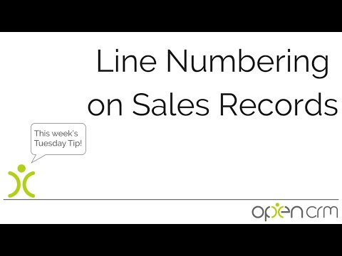 Line Numbering on Sales Records
