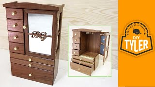 In this video I make a beautiful jewelry box for my wife using walnut from southern Missouri. The frame is assembled using shallow