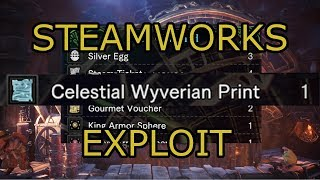 MHW IB Steamworks save exploiting - celestial print guide (Iceborne early game)