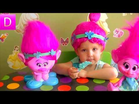 TROLLS DREAMWOlD Торс куклы TROLLS для создания причесок