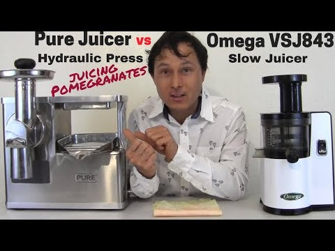 Pure Hydraulic Juice Press vs Omega VSJ843 Slow Juicer Comparison Review