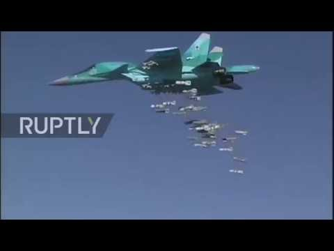 Syria: MoD footage shows Russian jets launching from Iran to target IS positions in Deir ez-Zor