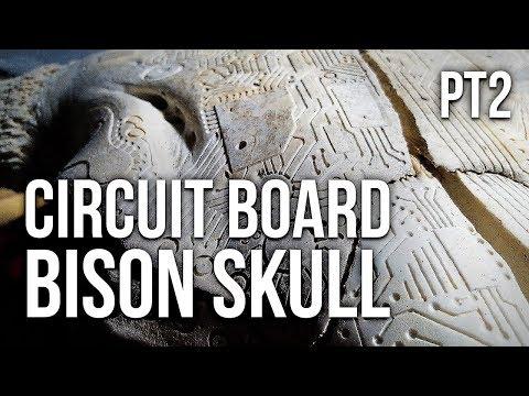 HOW TO CARVE A BISON SKULL (Bone Carving Tutorial Pt2)