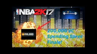 NBA 2K17 200,000 VC Spending Spree Finale!