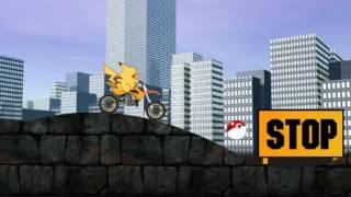 Pikachu Bike Trip (Путешествие Пикачу на мотоцикле)(Прохождение игры и летсплей (walkthrough and let's play game). Игра