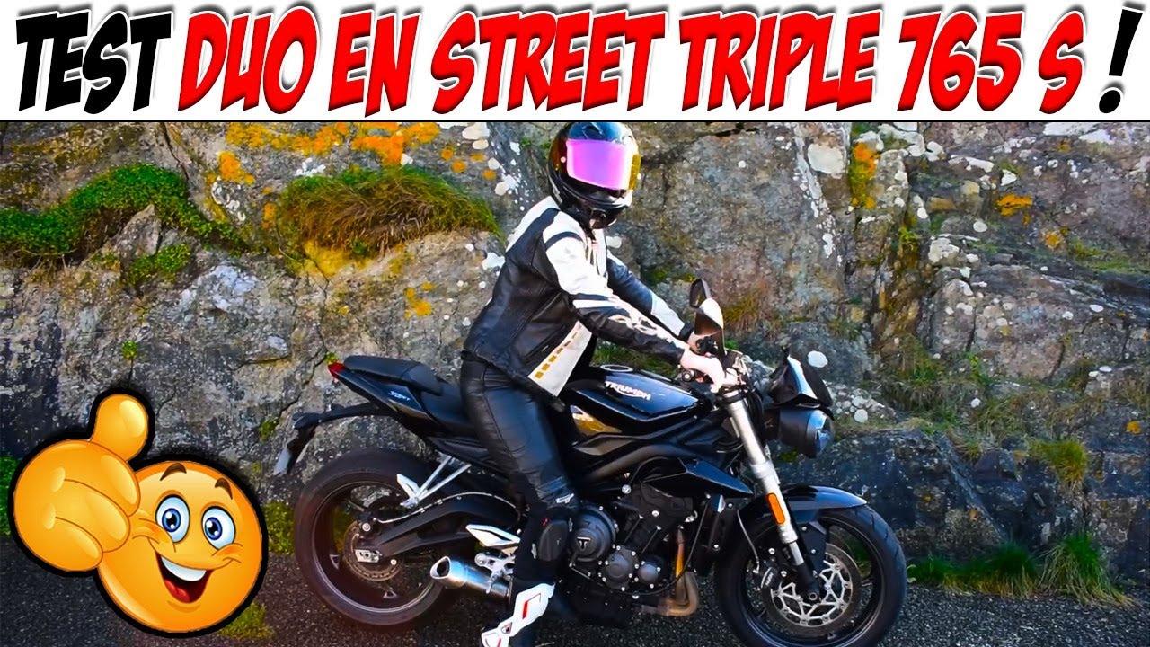 Test Duo Avec Ma Copine En Street Triple 765 S Youtube