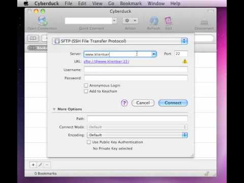 SFTP from mac