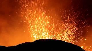 Fireworks at Erta Ale volcano, Nov 2010