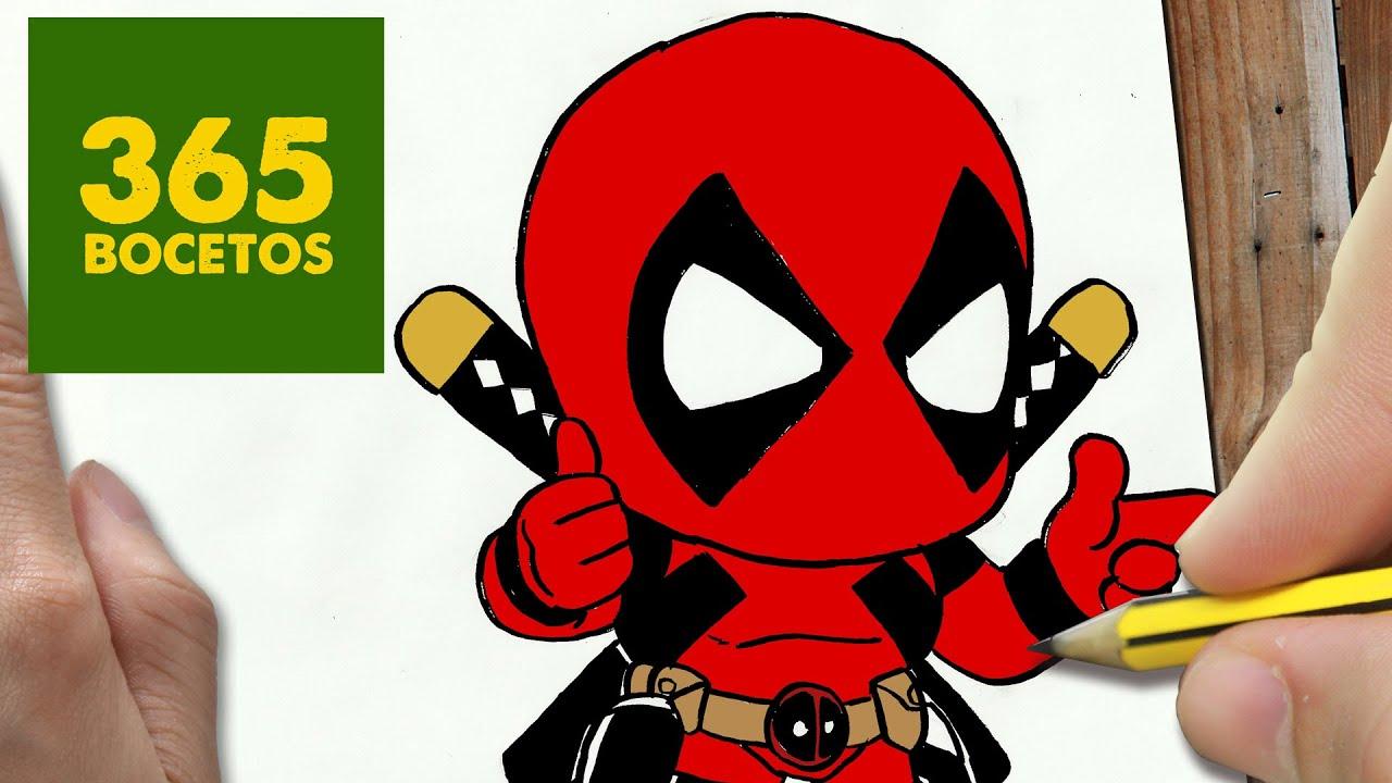Dibujos De Deadpool: COMO DIBUJAR DEADPOOL KAWAII PASO A PASO