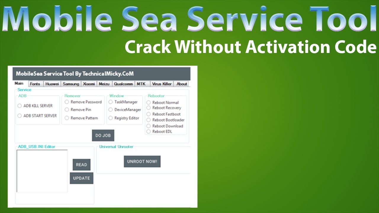All In One Mobile Sea Service Tool Crack Setup | Multi Service Tool