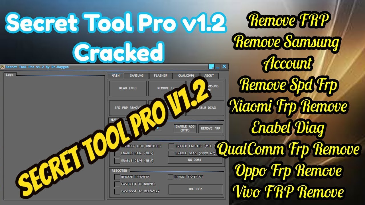 Secret Tool Pro v1 2 Without Hwid Remove FRP Samsung,Xiaomi,Oppo,Vivo,SPD,  by Technical Computer Solutions