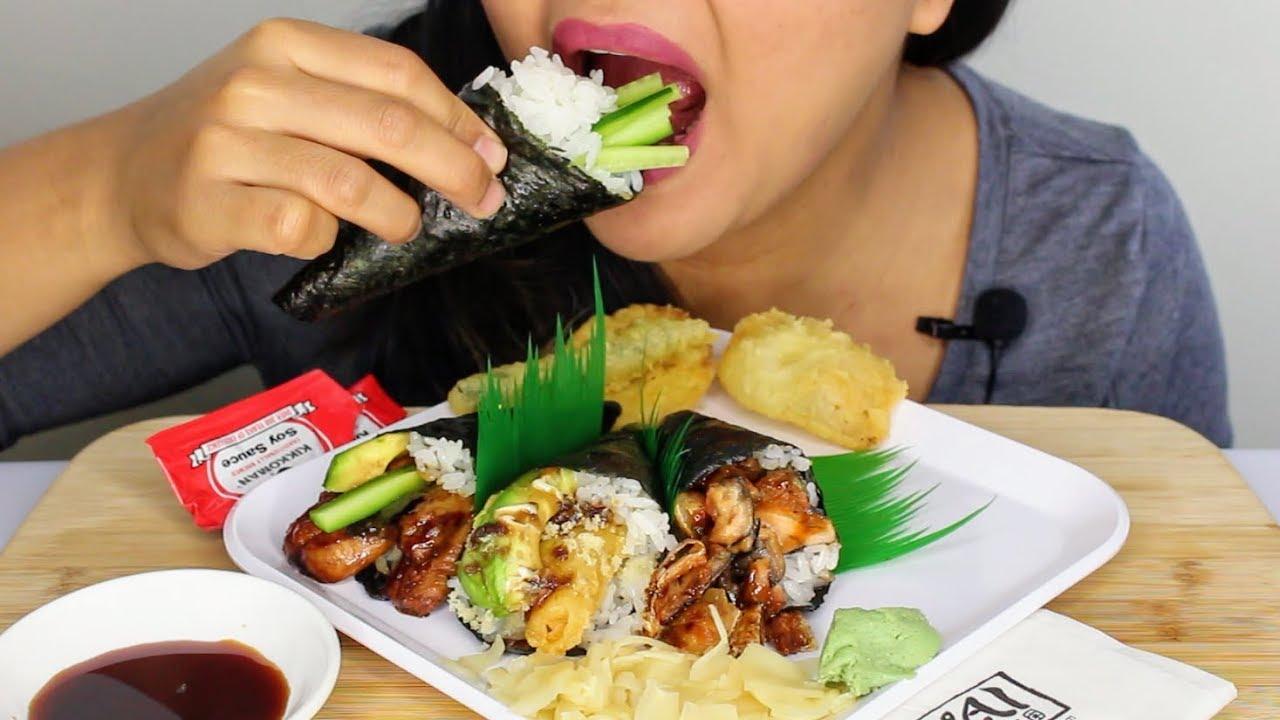 asmr sushi hand roll temaki pregnant edition eating. Black Bedroom Furniture Sets. Home Design Ideas